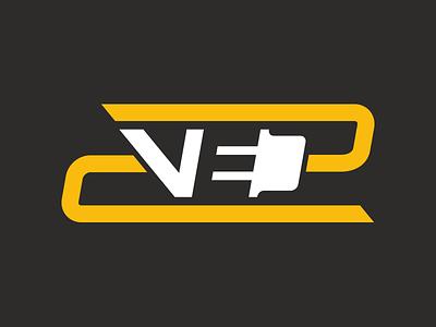 Verhoef Electric Logo electrician electrical logo branding