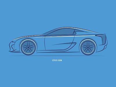 Design Lines - LFA v2 sketching sketch design automotive cars lfa lexus