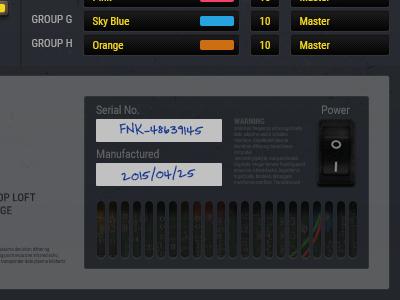 UI Details - Config Screen