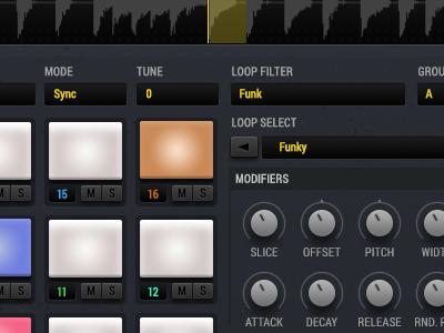 UI Details - Drum Pads Screen music kontakt drum machine synth design ui