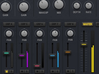 UI Details - Mixer Screen