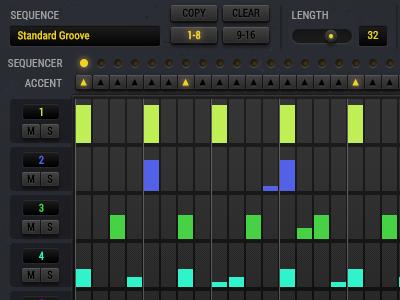 UI Details - Sequencer Screen music kontakt drum machine synth design ui