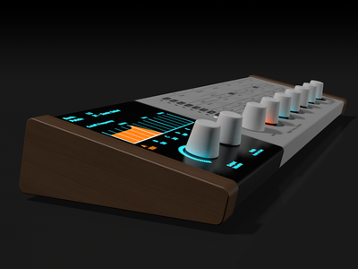 Pulse 3 Analog Syntheizer - Side View