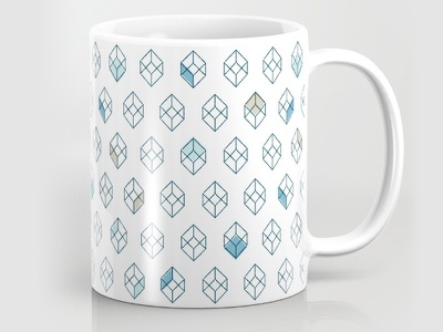Cubist Pattern geometry design illustration product mug cubist geometric pattern