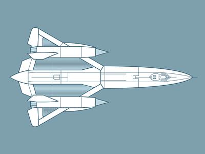 Blackbird! illustration rocket plane aeroplane airplane jet blackbird sr-71