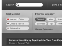Search, Sort & Filter