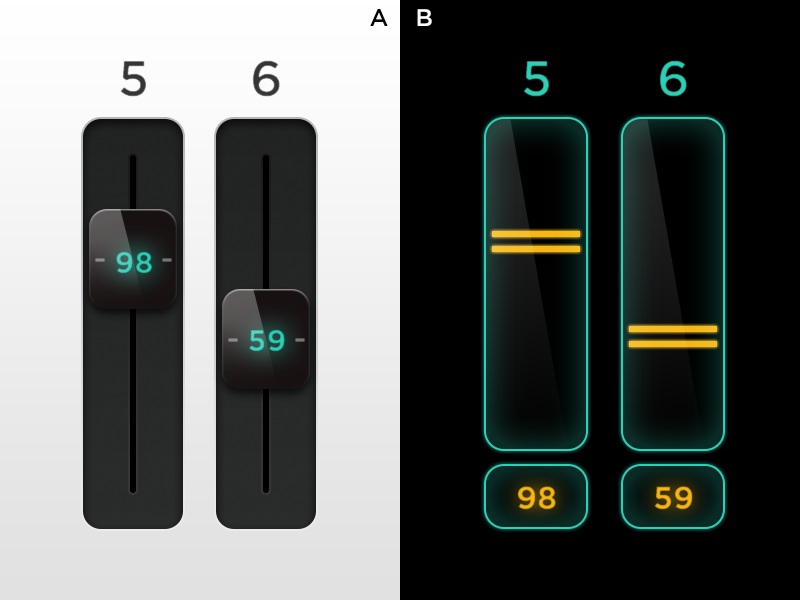 Sliders - Two Ways ui ios touch slider fader