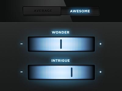 Average Or Awesome ui elements