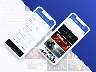 NextEpisode browse page mobile version concept site catalog mobile ui redesign ux figma design ui web dchoobaka