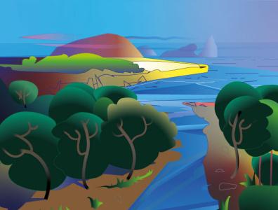 Sunset-Islands-(2021) preview demo resize graphic design sunset landscape islands background ui adobe illustrator vector illustration