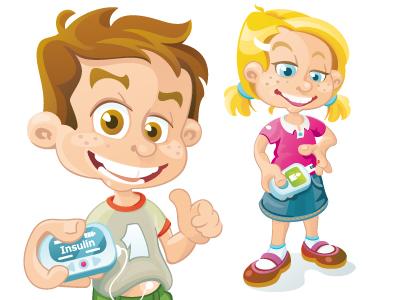 Diabetes Kids Characters