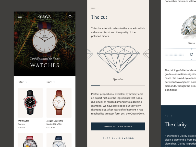Product Collection pastels minimal development agency development react watches shop diamonds exclusive ecommerce jewelry shop webshop jewelry