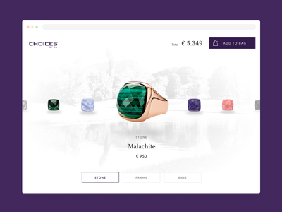Jewellery Configurator webshop shop react development ux  ui ux ring stones ui agency design minimal configurator jewellery