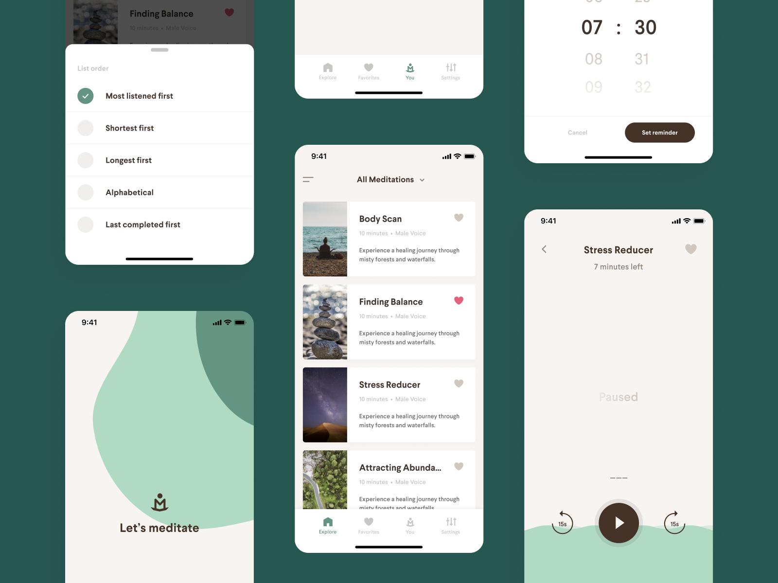 Meditation App Redesign by Wessel Grift for Reversed ...