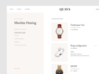 My account typography soft beige minimal development agency react development uxui ui ux luxury classy ecommerce webshop jewelry shop jewelry