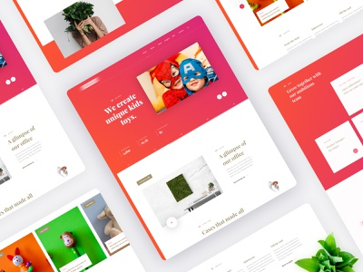 Toys agency platform whitespace concept design uidesigns uxdesign uxui 3d printer kids gradients homepage design ui web clean ui design branding uidesign gradient clean typography