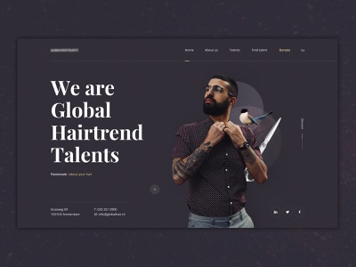 Barber heroes platform persuasion compositing minimal identity branding identity design branding image manipulation imagery header design uidesign clean ui design ui web clean website typography