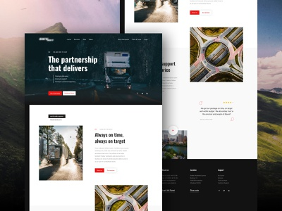 Truck platform mail track and trace tracking trucks uxdesign uidesign clean ui responsive design responsive digital design imagery webdesign homepage design branding minimal clean ui ux design typography