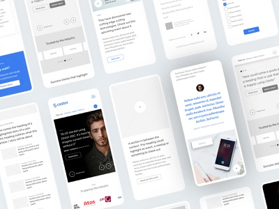 Castor platform storytelling clean ui modern mobile ux mobile ux design mobile ui mobile design process collage mobile uiux wireframes uxdesign customer service customer support stories
