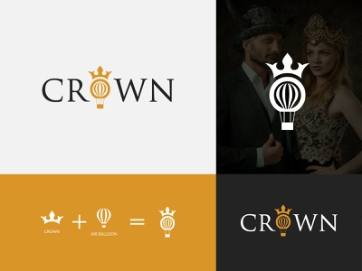 Crown Logo Design uiux professional modern logo air balloon crown logo logos ux creative logo dribbble professional logo minimalist logo dribbble best shot logo design branding abstract creative logodesign drawing flat 3d art 2d