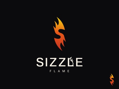 Sizzle Logo Design 3d 2d food flame logo logo designer dribbble best shot creative logo illustration ui logotype logo design concept professional logo business logo design modern logo dribbble logo design branding