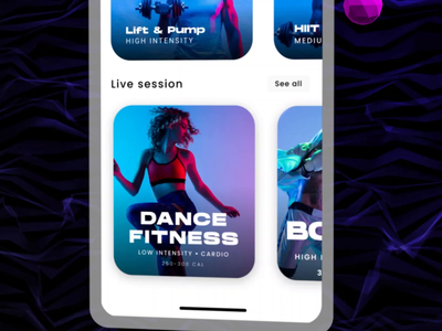 Fitness App design dark space shapes typography hanson workout fitness after effects cinema 4d app 3d motion design motion graphics animation