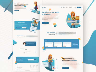 Learn page education website learning website learning e-commerce webdesign homepage image editing illustraion landing page design web page design education mobile app logo landingpage figma branding adobe photoshop web design mobile app design graphic design