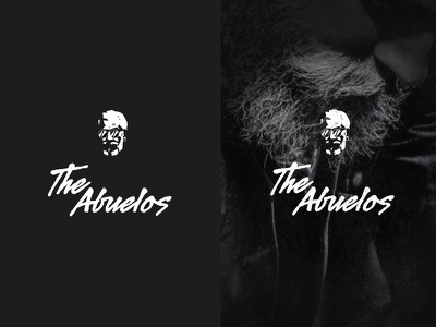 """The Abuelos"" - Logo concept brand the abuelos typography old beard brush vintage logo branding concept"