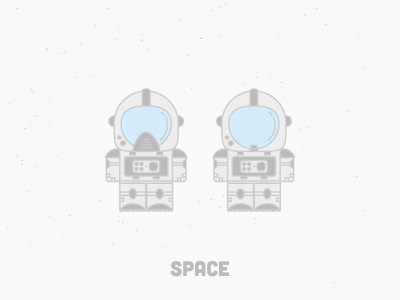 Space - Made for fun :P space astronaut nasa suit cosmos minimal