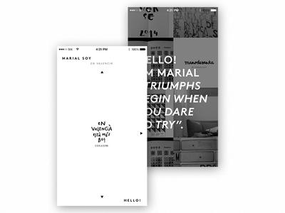 The new portfolio of Marial Soy - Web development