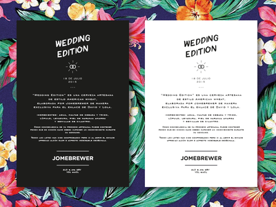 Jomebrewer - Wedding Edition - brew rounded clean minimal type made beer typography wedding tags