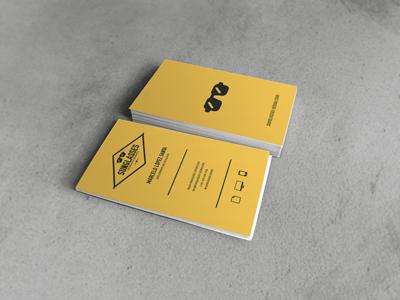 Business card sunglasses design small