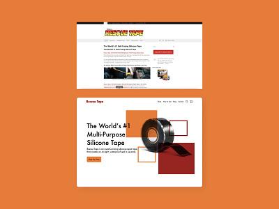 Rescue Tape redesign minimal ux web ui design