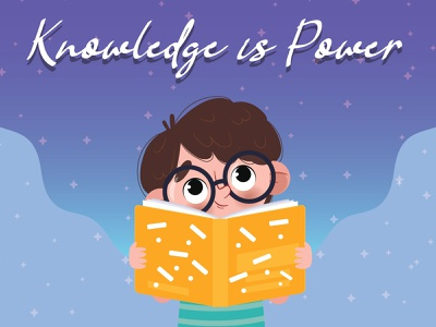 Thinkific - Knowledge is Power graphic design branding