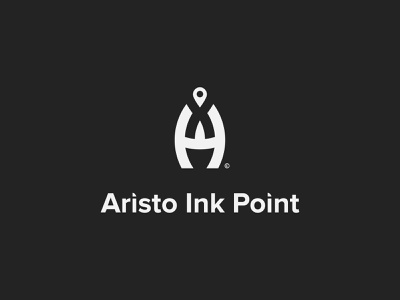 Ai Point Letter Logo appare brand app icon monogram company geomatric ads letter logo logo design a b c d e f g h i j k l m n minimalist logo logo mark