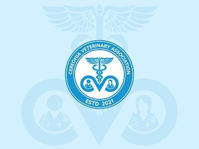 Cerenia Vet Association Logo letter logo cva city vet official stethoscope monogram icon clinic medical veterinarian students doctor logo pet vector emblem association animal a b c d e f g h i j k l m n logo mark