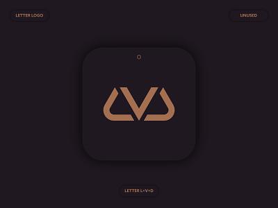 LVD Letter Logo Concept abstract service app gold flat logo luxry icon modern monogram brand identity letter logo a b c d e f g h i j k l m n minimalist logo logo mark