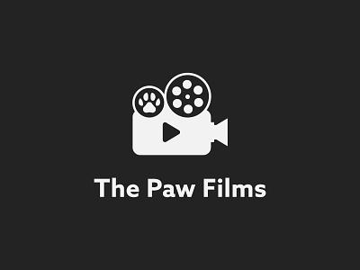 The Paw Films Logo production house media monogram minimalist logo brand shop flat logo logo mark cinema cat paw movie film logo a b c d e f g h i j k l m n logo design brand identity