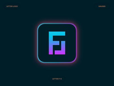 FS Letter Logo Concept logo type minimalist logo 2d modern tech digital monogram icon gradient letter logo brand identity a b c d e f g h i j k l m n logo mark