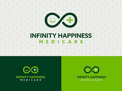 MediCare Logo monogram vector minimalist symbol healthy organic medicare infinity medical happiness a b c d e f g h i j k l m n icon logo mark brand identity minimalist logo