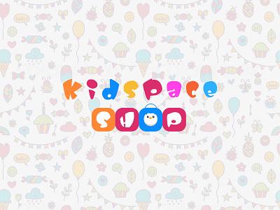 Kid Toy Shop Logo child little cute drawing abstract cartoon doodle kid toy shop unique colorful wordmark minimalist logo logo mark design logo illustration