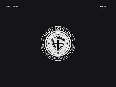 High Echelon symbol modern circle bagde high echelon emblem he unique monogram sheild icon flat logo letter logo minimalist logo a b c d e f g h i j k l m n logo mark brand identity