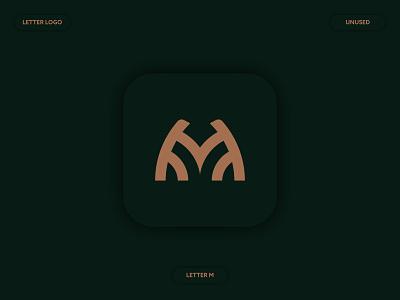 M Letter Logo Concept branding minimal abstract unused unique modern symbol monogram m design icon flat logo letter logo minimalist logo a b c d e f g h i j k l m n logo mark brand identity