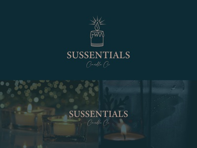 Sussential Candle Co branding ui company happiness retro light candle luxry illustration icon minimalist logo o p q r s t u v w x y z a b c d e f g h i j k l m n logo mark brand identity