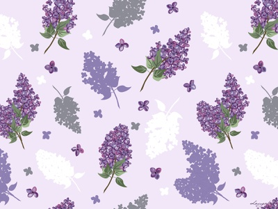 Lilac pattern seamless tenderness violet purple lilac illustration lilac pattern lilac pattern botanical pattern floral floral pattern flowers illustration design botanical blossom bloom springtime spring vector