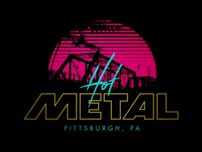 Hot Metal Vice ultimate frisbee sports pittsburgh retro 80s