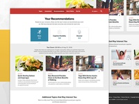 Recommendations Landing page