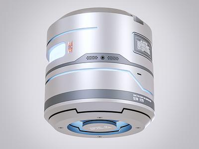 Mech cylinder 1 hardware render cycles blender3d blender cylinder metalic metallic decals hardsurface 3d mecha