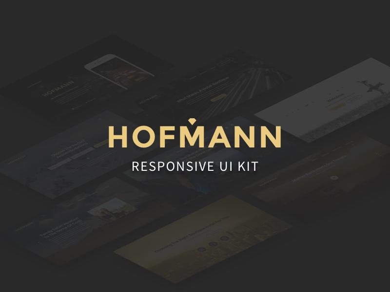 Hofmann – Free Responsive UI Kit gold landing bootstrap responsive sketch freebie free uikit ui kit ui