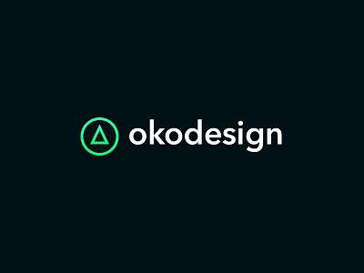 okodesign logo vibrant icon basic shape neon minimal logo self-identity